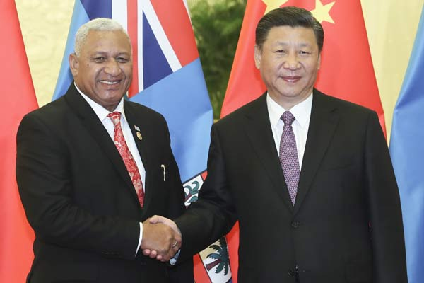 (منتدى الحزام والطريق) الصين وفيجي تتعهدان بتعزيز التعاون