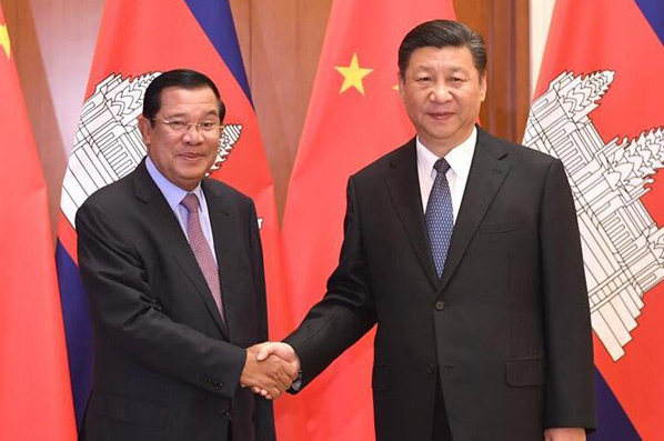 (منتدى الحزام والطريق) الصين وكمبوديا تتعهدان بتطبيق خطط تعاون فى إطار مبادرة الحزام والطريق