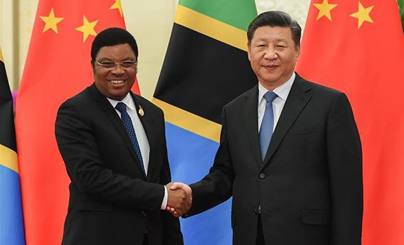 شي يلتقي برئيس وزراء تنزانيا