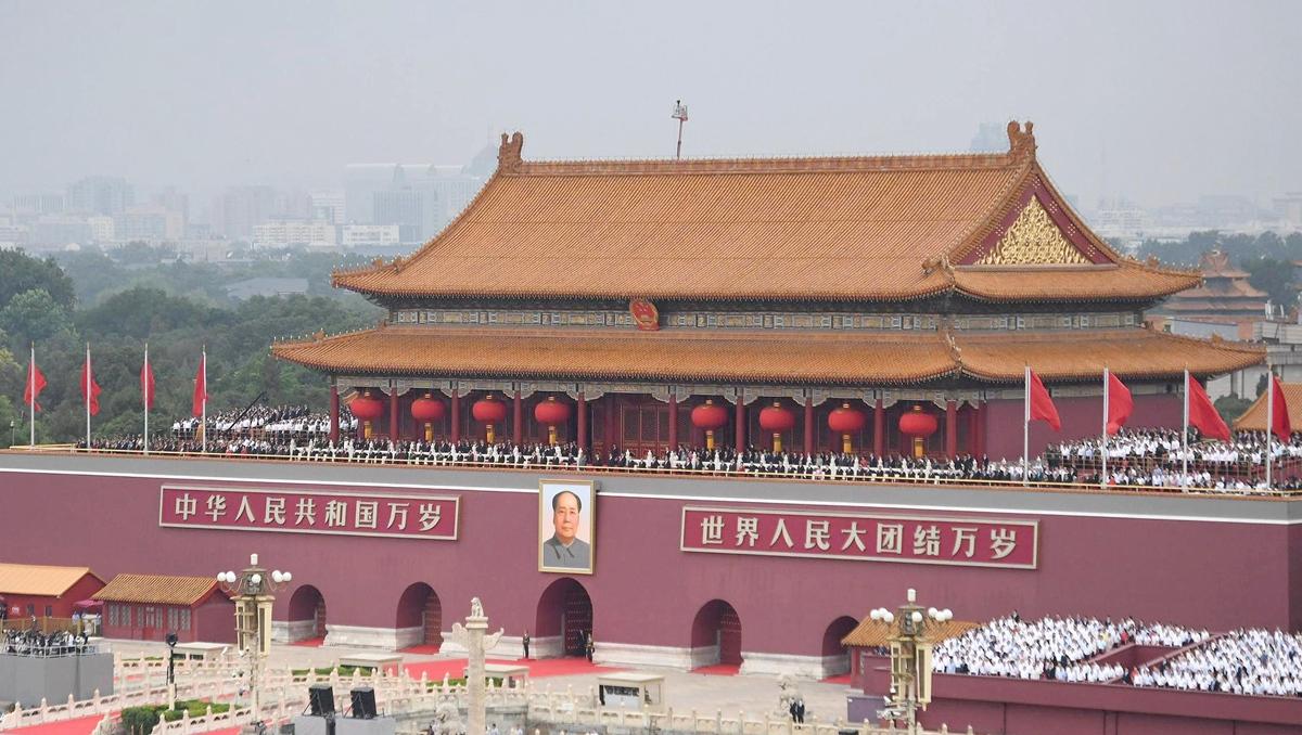 بدء حفل بمناسبة الذكرى المئوية لتأسيس الحزب الشيوعي الصيني في ميدان تيان آن من
